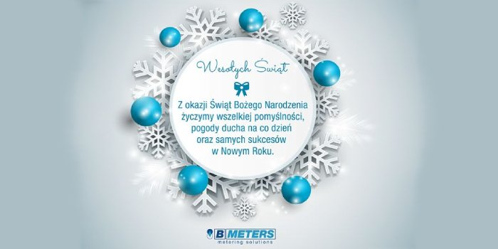 Życzenia bożonarodzeniowe od BMETERS Polska