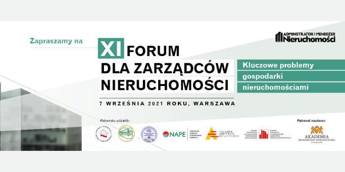 XI Forum dla Zarządców Nieruchomości