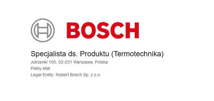 Pracuj w firmie BOSCH
