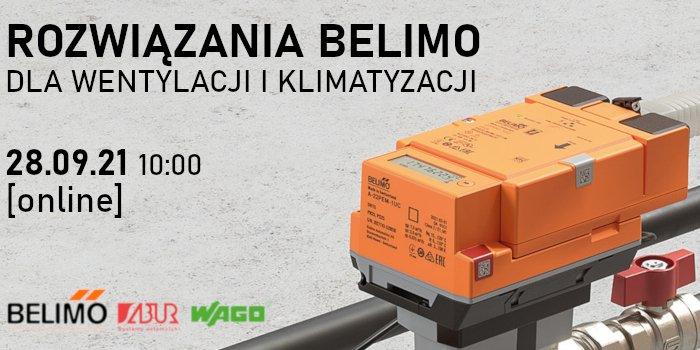 Rozwiązania BELIMO dla wentylacji i klimatyzacji: 2021. Konferencja online