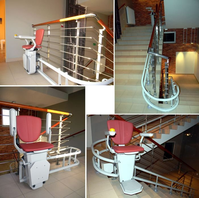 Krzesełko schodowe krzywoliniowe Sapphire Otolift