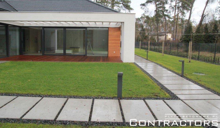 Beton architektoniczny w nowoczesnym ogrodzie