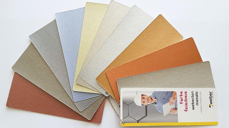 Fasadowa farba z efektem metalicznym