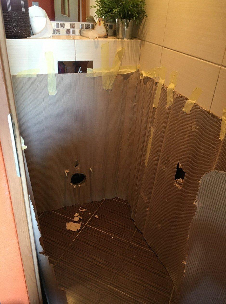 Gliwice – zabezpieczenie łazienki przed rozpoczęciem pracy