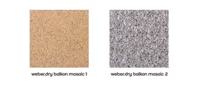system weber.dry balkon - mosaic