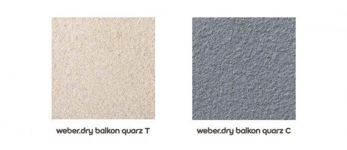 system weber.dry balkon - quarz