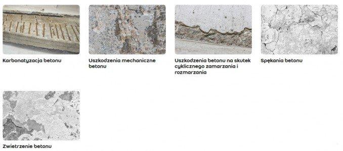 Uszkodzenia betonu