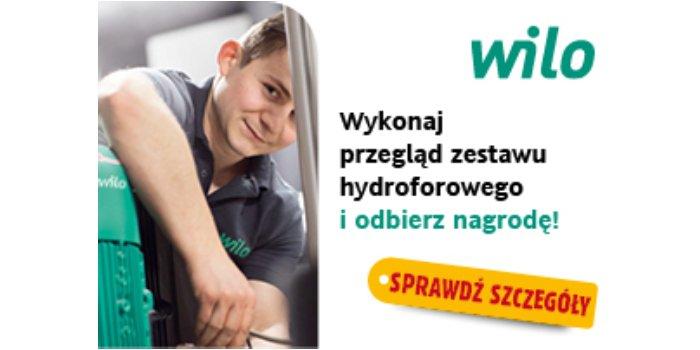 Zleć wykonanie przeglądu zestawu hydroforowego i odbierz nagrodę; Wilo